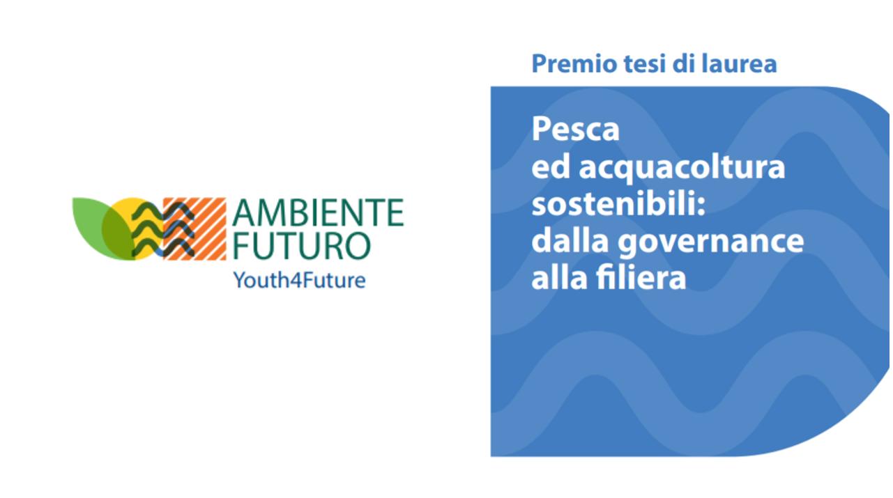 Premio per tesi di laurea su pesca e acquacoltura: in palio 8.000 euro