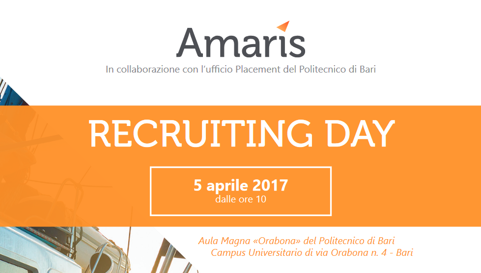 Recruiting Day di AMARIS per laureati in ingegneria