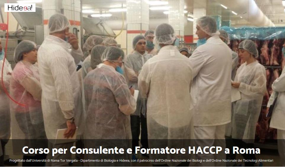 Corso per Consulente e Formatore HACCP