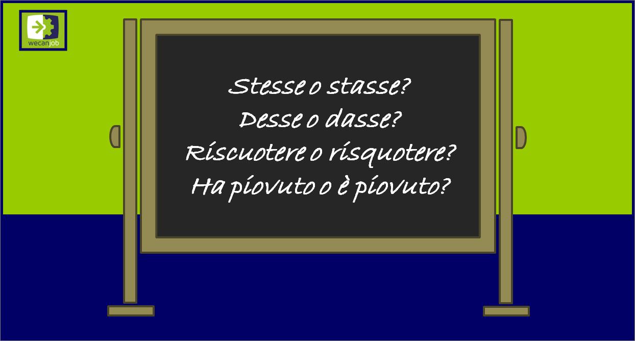 Gli errori più comuni nella lingua italiana: verbi dubbi
