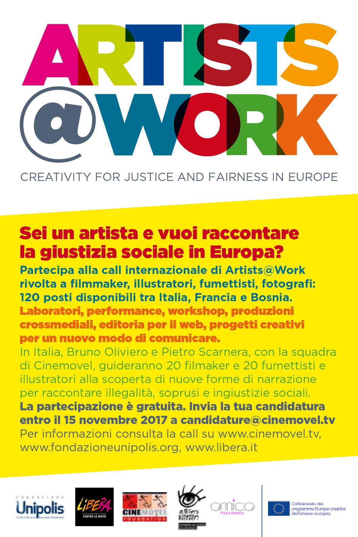 Artists@Work: contest per filmmakers, fumettisti e illustratori