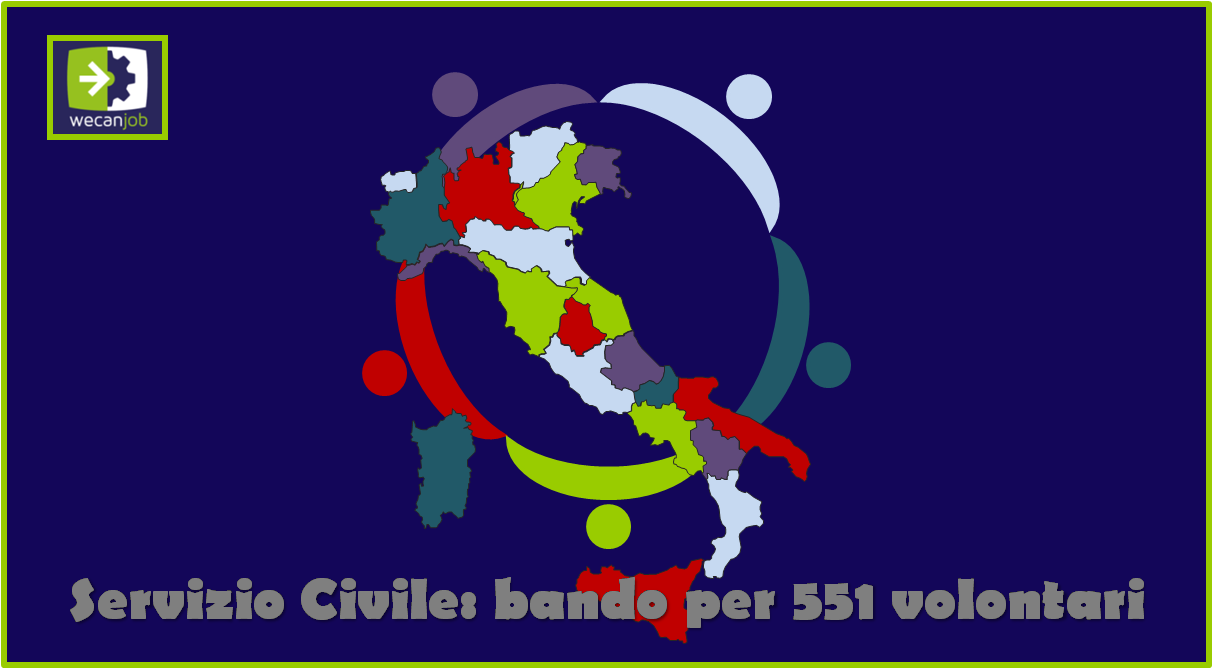 Bando Servizio Civile Universale per 551 volontari