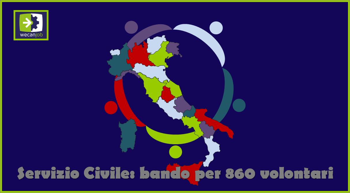 Bando Servizio Civile Universale per 860 volontari