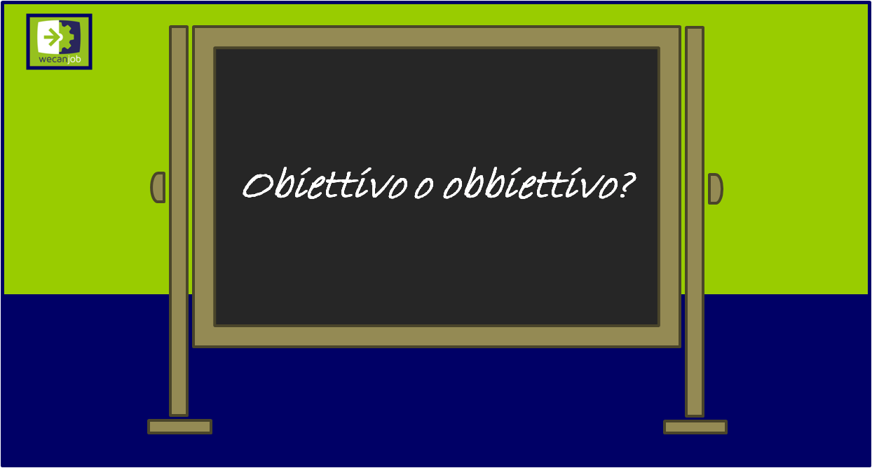 Obiettivo o obbiettivo?