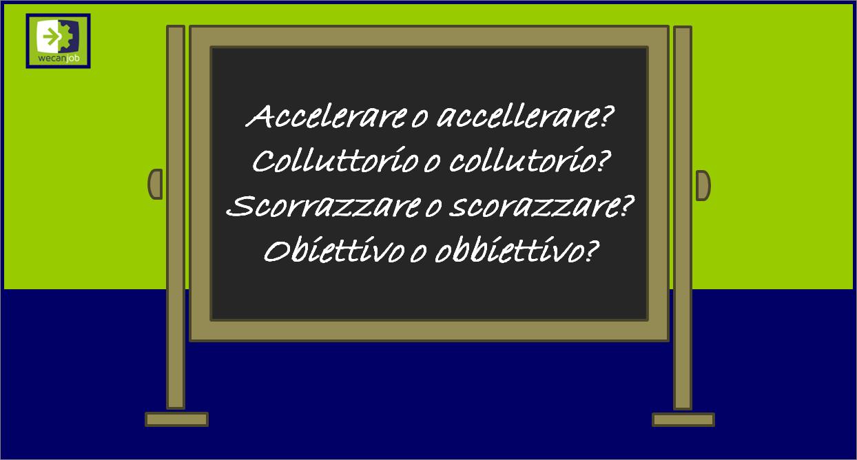 Gli errori più comuni nella lingua italiana: le doppie consonanti