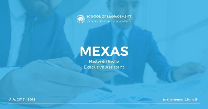 "Master di I Livello ""Executive Assistant - MEXAS"""