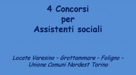 4 nuovi concorsi per assistenti sociali in vari Comuni