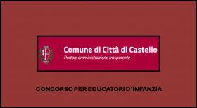 Concorso per l'assunzione di 5 educatori d'infanzia - Città di Castello