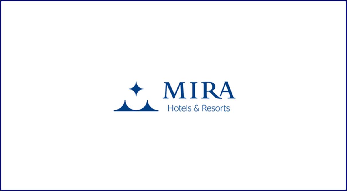 Mira Hotels & Resorts - Diverse assunzioni nel settore alberghiero