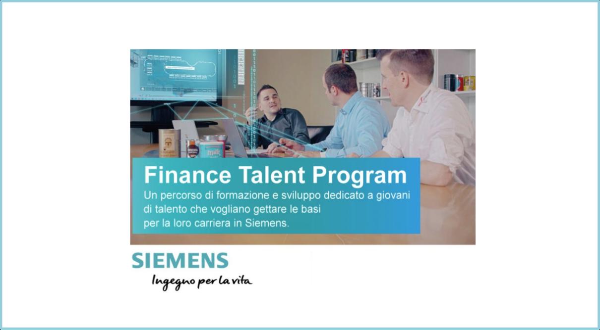 Opportunità per laureati e laureandi: in partenza il Finance Talent Program di Siemens