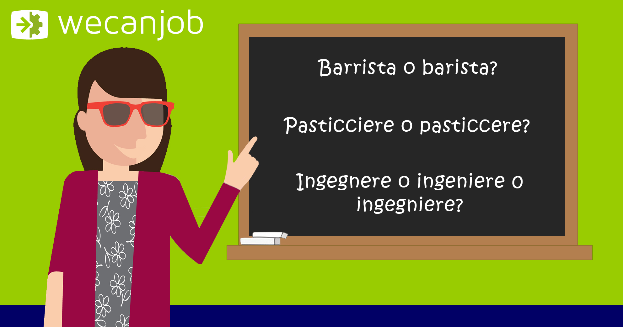 Gli errori più comuni della lingua italiana: risolviamo i dubbi sui mestieri