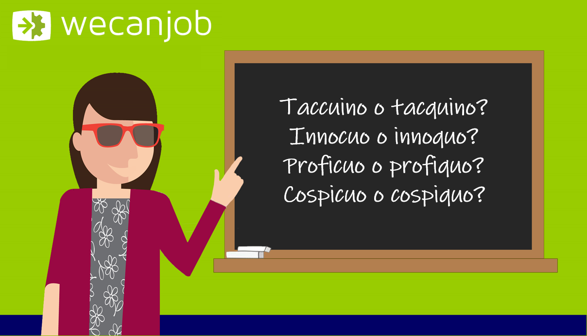 Gli errori più comuni della grammatica italiana: si scrive con la c o con la q?