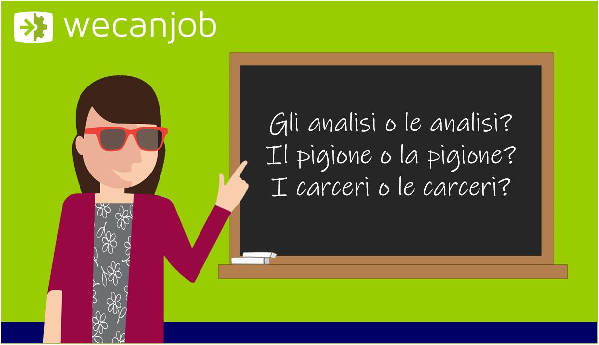 Gli errori più comuni della grammatica italiana: maschile o femminile
